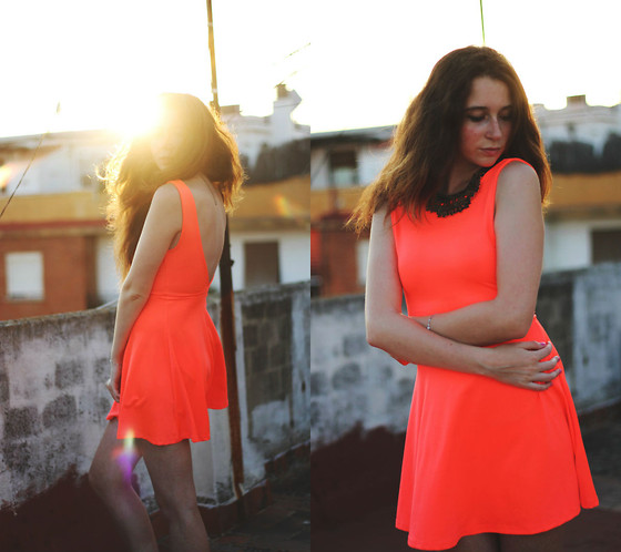Francesca S - H&M Dress, H&M Necklace - Neon