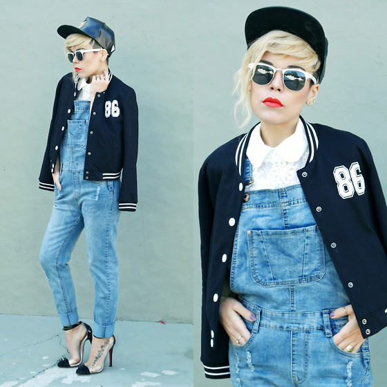 Priscila Diniz - Shoes, Jacket, Jumpsuit, Shirt, Wig, Sunnies, Leather Cap - 86