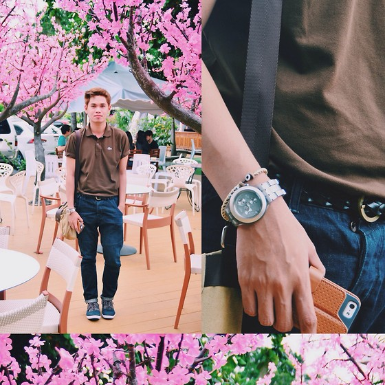 Rhonnel Tan Santos - Lacoste Polo, Swatch Watch, Topman Carrot Jeans, Call It Springs Shoes - 080314