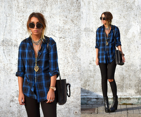 L A - Asos Flannel Shirt - FLANNEL IS THE COLOR OF MY ENERGY