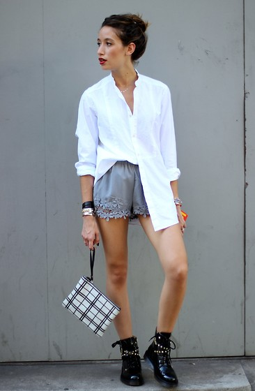 Alex Closet - Essentiel Shirt, Zara Short - Tomboy summer