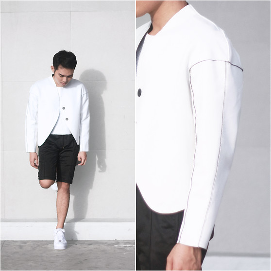Karl Philip Leuterio - Frontrowshop Jacket, Philosophy Shorts, Zara Crop Leather Top, Nike Air Force - Small Wonders
