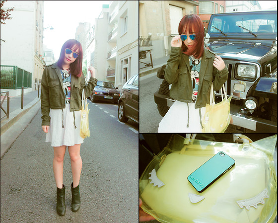 Lan Chi Vu - Cute Customized Case, Zara Military Jacket - Be free !