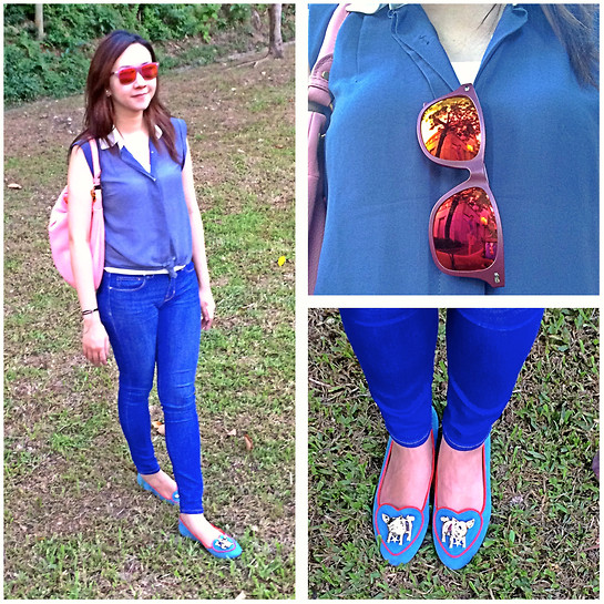 Rita C - Roxy Sunglasses, Marc By Jacobs Bag, Charlotte Olympia Pig Shoes - Keep trying_081614