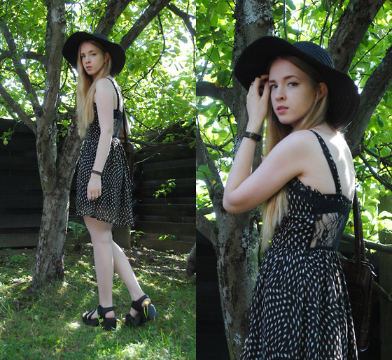 Noora V - H&M Hat, Vagabond Sandals, 2nd Hand Bag - The old days