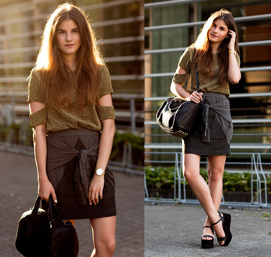 Michèle Krüsi - Pitchouguina Cut Out Top, Dagmar Skirt, Zara Sandals, Alexander Wang Bag - THE GOLDEN HOUR