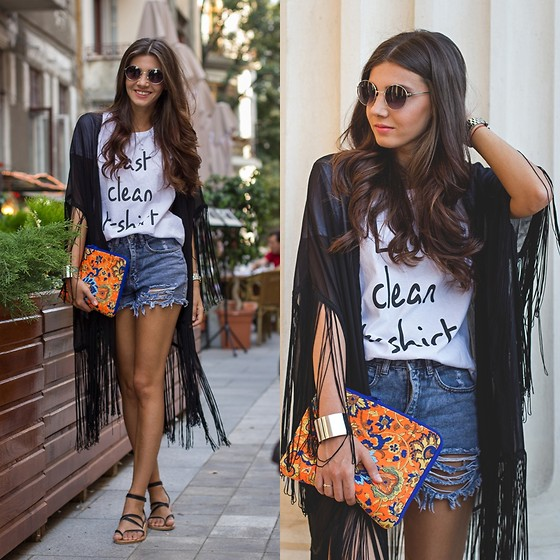 Larisa Costea - Sheinside Kimono, Maisonf T Shirt, Oasap Bracelet, Marc By Jacobs Watch, Sheinside Jeans - Last clean tee