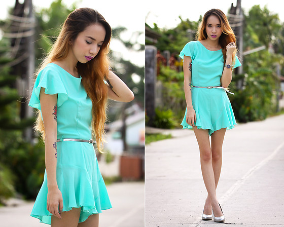Wicked Ying NEW - In Love With Fashion Mint Romper - Frillin' Minty Fresh