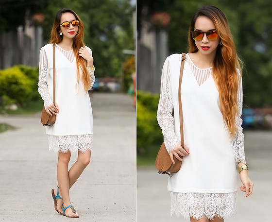 Wicked Ying NEW - Frontrowshop White Dress, Fly Shades Isiro Sunnies - White Weekend