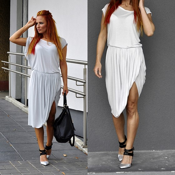 Madame Lala - Diy Draped Dress, Mohito Shoes - Draped dress diy