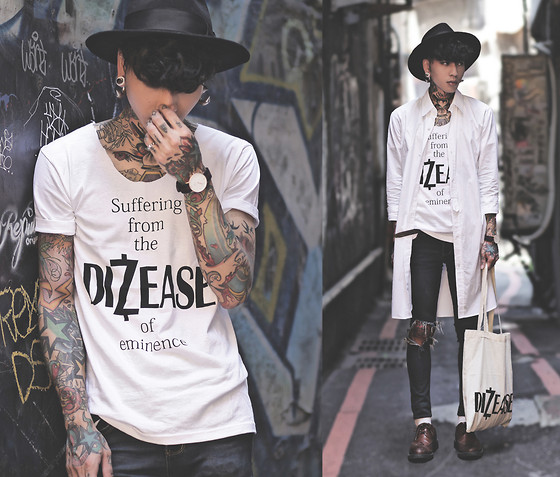 IVAN Chang - Dizease Whute Tee - 010914 TODAY STYLE