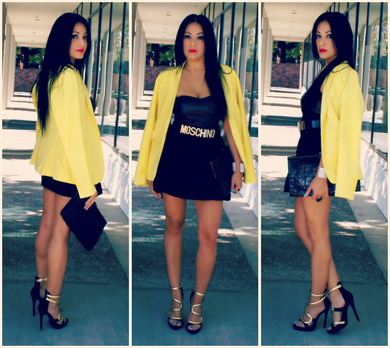 Marina Hidalgo - Romwe Blazer, Justfab Heels, Romwe Moschino Belt, Forever 21 Clutch - Be Passionate About What You Love