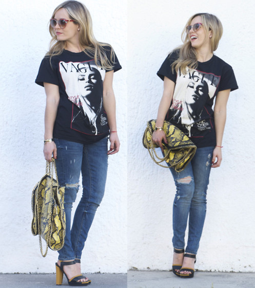 Cassandra De La Vega - Stella Mccartney Bag, Forever 21 Shirt, Fendi Shoes, Sunnies Vintage, Zara Jeans - SIMPLE