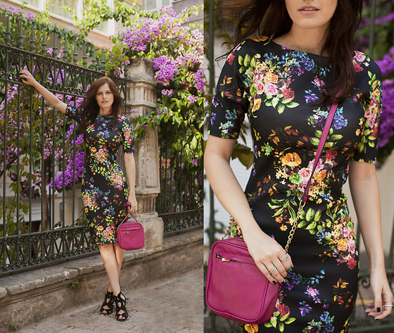 Viktoriya Sener - Floral Dress, Inci Bag, Zara Sandals - SONG OF DRESS