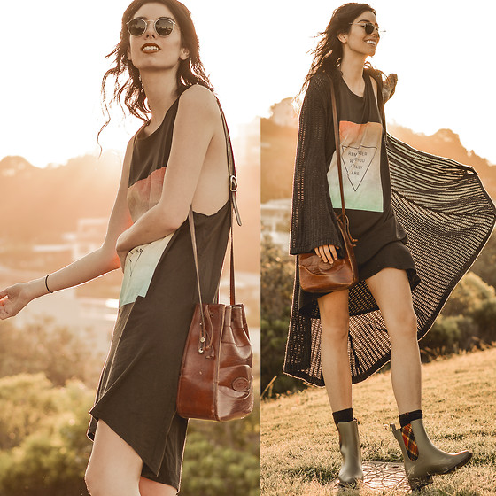 Elle-May Leckenby - Dead Bury Remember Dress, Vivienne Westwood Riding Boots, Ray Ban Round Metal Sunglasses - Remember