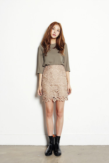 Fashion1164 -  - H line lace skirt