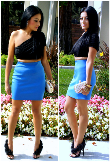 Marina Hidalgo - Ami Clubwear Skirt, Oasap Crop Top, Baker Shoes Heels, Justfab Skull Studded Clutch, Charlotte Russe Jewelry - Simplethings - I Just Want You To Win My Heart