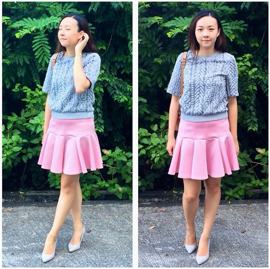 Rita C - H&M Grey Top, Asos Pink Skirt - Transitional_091014