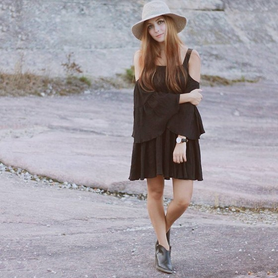 Breanne S. - Asos Dress, Anthropologie Floppy Hat, Daniel Wellington Watch - Mountains Beyond Mountains