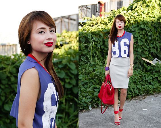 Dominique Marie Tiu - Topshop Cropped Top, Fendi Bag, Zara Ankle Strap Heels - All About That Bass