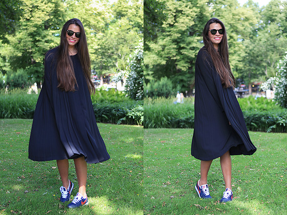 Olga Peterson - H&M Dress, Nike Sneakers - Happy Black