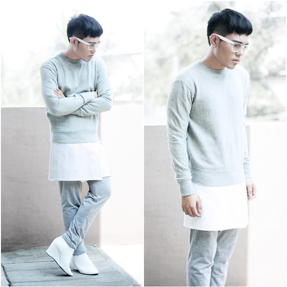 Karl Philip Leuterio - American Apparel Sweater, Costume National Skirt, Y 3 Joggers - Alternates