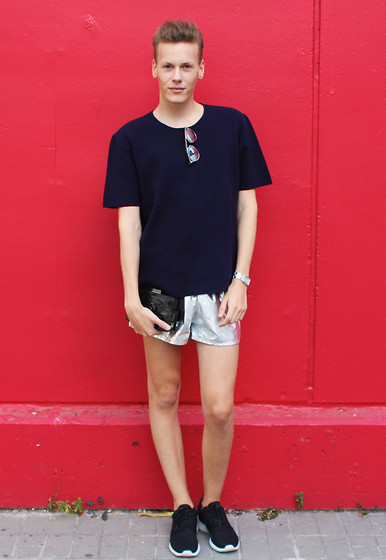 Martijn Maagdenberg - Cos T Shirt, Christian Dior Sunglasses, Chanel Clutch, American Apparel Shorts, Cartier Watch, Nike Sneakers - Untitled #6