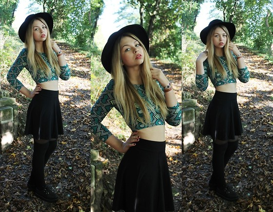 Meryl Tay - H&M Skirt, H&M Cropped Shirt, Creepers, H&M Hat - Some Day One Day