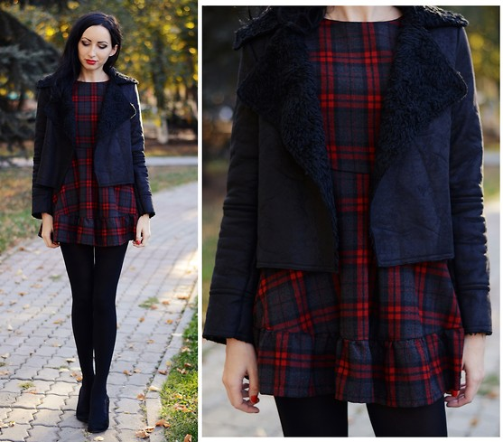 Kary Read♥ - Chic Wish Jacket, Oasap Dress - Aviator Jacket)