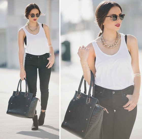 Daniela Ramirez - Big Star Denim Jeans, Ted Baker Bag, H&M Boots, Ray Ban Sunglasses - Minimalist...