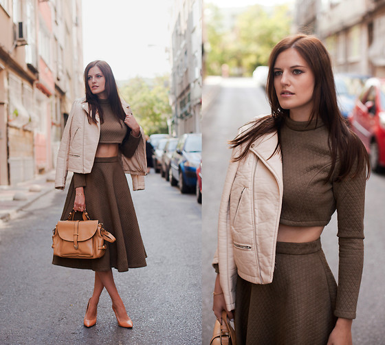 Viktoriya Sener - Zara Jacket, Chic Wish Twin Set, Vintage Bag, Zara Pumps - OVILE & NUDE