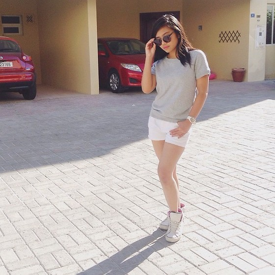 Ellaine Regala - Cotton On Sunnies, Forever 21 Loose Top, Lee Cooper Shorts, Converse High Cut, Casio G Shock - Comfort & Style