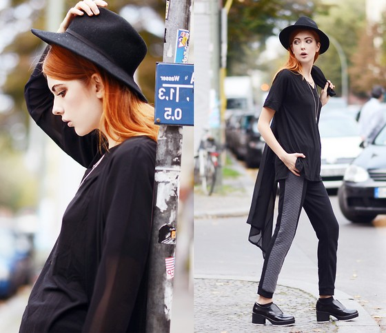 Ebba Zingmark - Blackfive Top, Blackfive Pants, Shellys London Shoes, Nelly Hat, Coat - CITY PULSE