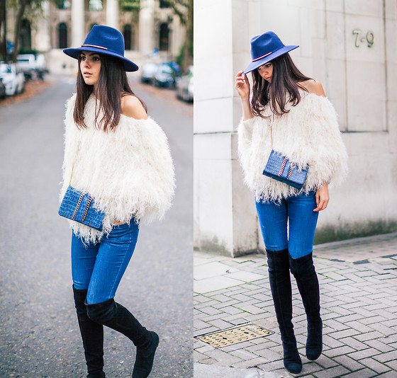 Doina Ciobanu - Fluffy Jumper, Over The Knee Boots - LONDON BOHO