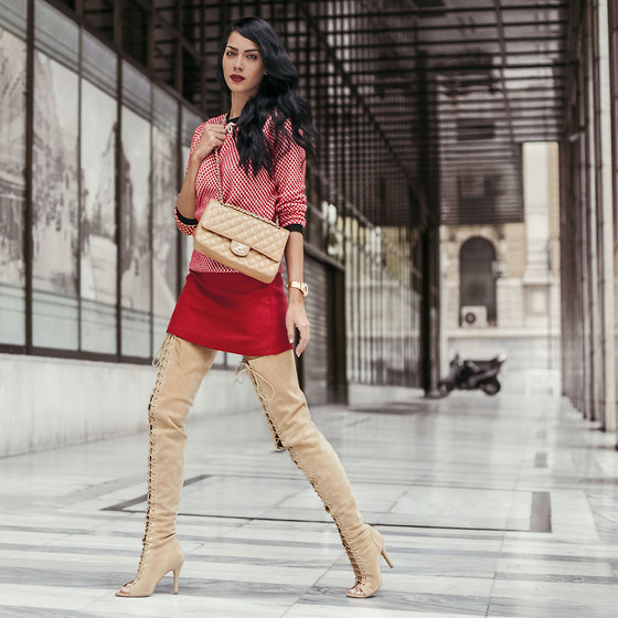 Konstantina Tzagaraki - Boots, Skirt, Chanel Bag - Its never too late to take a moment to look..