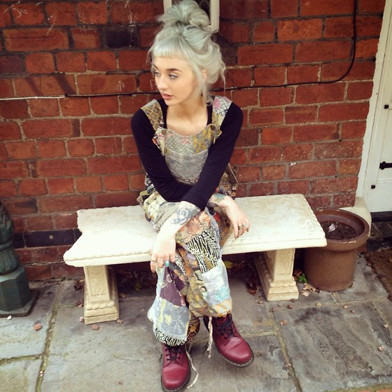 Pixie Gibbons - Ooto, Asos, Doc Martins Oxblood Docs - Patchwork Dreaming