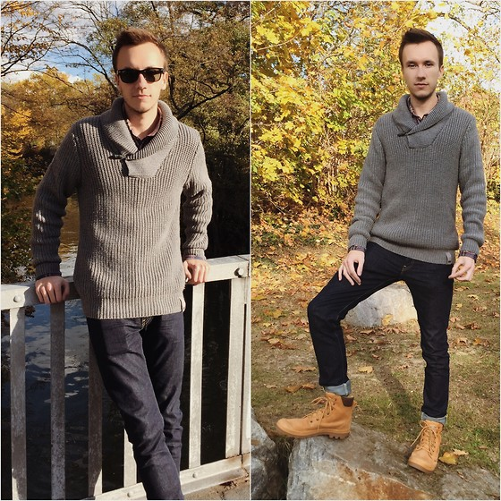 Sven A - Lee Luke Top Blue, Palladium Boots - Sunny Autumn