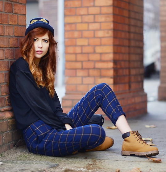 Ebba Zingmark - 5preview Pants, Landing Headwear Hat, Primark Vegan Boots, H&M Top - GROUNDED