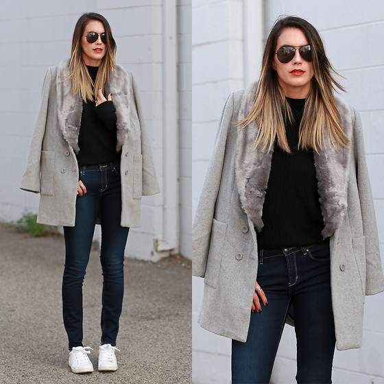 Brittany Xavier - Forever 21 Coat, Articles Of Society Jeans - Faux fur