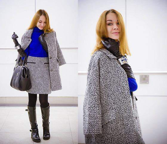 Lidia ♫♪♫ - Zarina Coat, Zarina Sweater, Zarina Skirt, Diane Von Furstenberg Bag, Love Rebubliс Gloves, Love Rebublic Bracelet - MBFWR - day 2