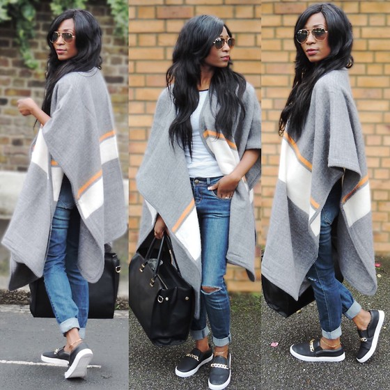 Eunice Addo - River Island Topshop – Wrap Cape // H&M – Top & Bag // Zara – Jeans // – Plimsoll // Ray Ban – Avaitor Sunglasses   See More At: Http://Glossylipz.Com/My Closet/Wrap Cape.Html#Sthash.Pki6mjhz.Dpuf - Wrap Cape