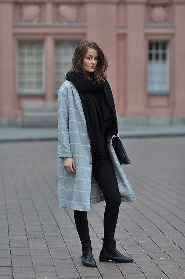 PATINESS - My Blog, Instagram, Facebook, Bloglovin - PLAID GREY COAT