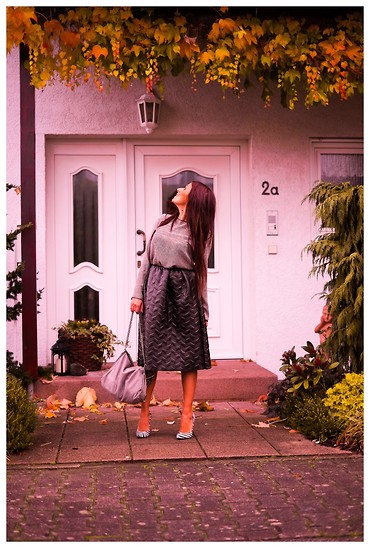 ManueLita - By Alis Blouse, By Alis Skirt, Altramarea Shoes, Stella Mccartney Bag - From Germany ....