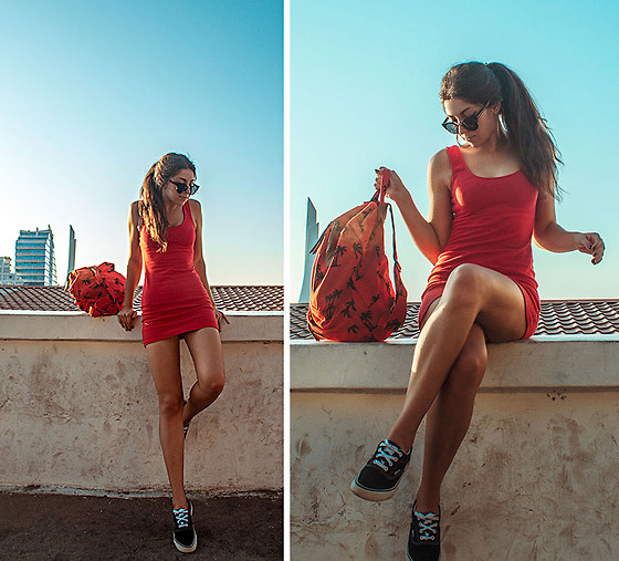 Viktoria Vasilenko - Forever 21 Dress, Forever 21 Backpack, Vans Shoes - Maroon 5 – Sugar