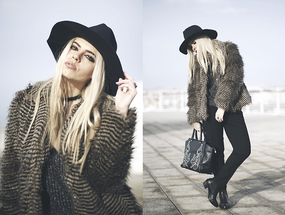Inês M - Asos Coat, Lovelyshoes Coat, Zara Pants, Iclothing Bag, Topshop Boots - Miss Brown