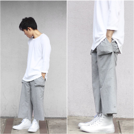Karl Philip Leuterio - Converse Rubber, Jeanasis Culottes, Uniqlo Sweater - Timeless Transition