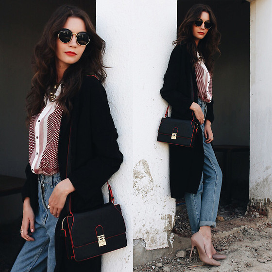 Anna Brain - Yoins Coat, Florian London Bag, Oasap Sunglasses, Romwe Jeans - FROM WINTER TO SUMMER
