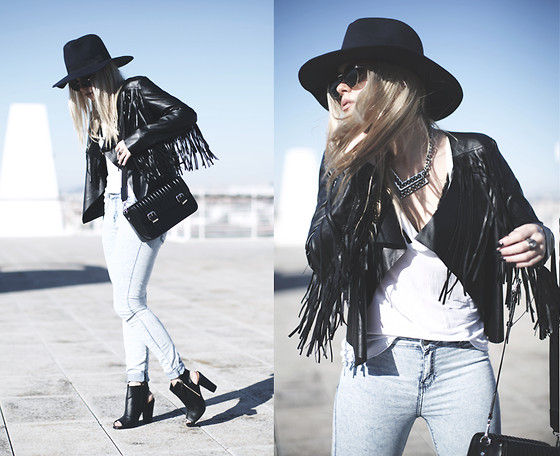 Inês M - Asos Hat, Missguided Jacket, Zara Bag, Boohoo Shoes, H&M Necklace, Asos Sunglasses - Easy there cowboy
