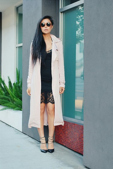 Goodbadandfab Girl - Forever 21 Trench, H&M Dress - Beauty Break