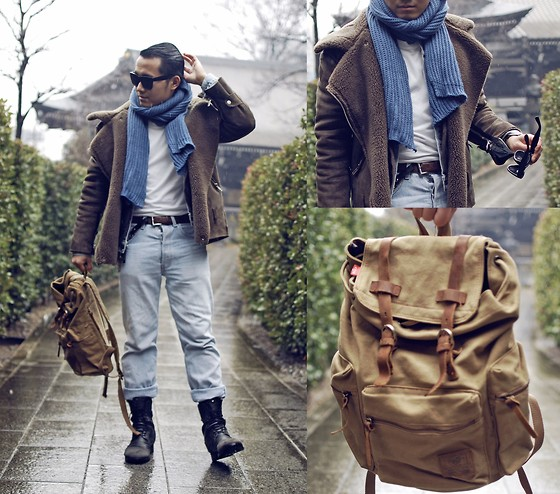 KIKO CAGAYAT - Modekungen Pilot Jacket, Tomtop Korean Fashion Women Men Scarf Knit Solid Long Warm Unisex Wrap Shawl, Tomtop Men/Women's Vintage Canvas Backpack Rucksack Satchel School Bag Hiking Bag - The Story Of Us